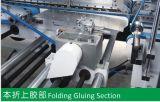 Ökonomischer automatischer gewölbter Kasten, der Maschine (GK-1200/1450/1600AC) sich faltet, klebend