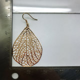 Fashion Style gold Color Hollow Leaf Leaves Earring for Women Ladies