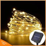 De zonne van de LEIDENE van de Lichten 10m 100 van Kerstmis van de Fee van de Lamp van het Koord Lichte Slinger van de Lamp van het Decor van de Partij van het Huwelijk van Kerstmis Draad van het Koper