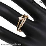 14118 Form CZ-Finger-geöffneter Ring in der 18k Vergoldung