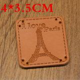 Het Etiket van het Leer van de Goede Kwaliteit van de fabriek voor Jean Jacket Hat Bag
