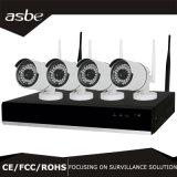 câmara de segurança sem fio da fiscalização do CCTV do jogo do IP NVR de 4CH 1080P HD WiFi