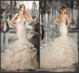 Vestido de casamento formal nupcial Strapless A201793 do laço da sereia dos vestidos