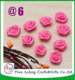 Fita de cetim Rose Flower apliques de proa Casa decoração da festa de casamento