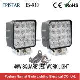 48W 트레일러 또는 트럭 또는 포크리프트 (GT1015-48W)를 위한 정연한 4inch LED 일 빛