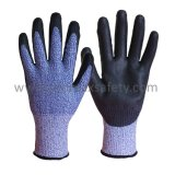 Cortar 5 Hppe guantes con forro Hi-Vis