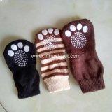 Носки собаки хлопка печатание лапки для больших собак