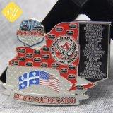 All'ingrosso morire il distintivo militare in lega di zinco della polizia dell'emblema di Pin del getto