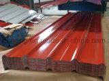 precio de fábrica de buena calidad Prepainted Caja de acero galvanizado de hoja de techado de perfil