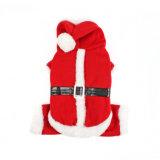 Noël de crabot de cavaliers de Santa de Noël vêtx des costumes de vacances d'animal familier
