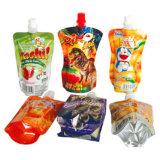 Подгонянный многоразовый мешок мешка Spout полиэтиленового пакета еды питья сока