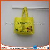 La impresión por sublimación de la bolsa no tejido reutilizables.