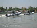 船外エンジンとのLiya 2.4-8.3mの肋骨の救助艇の堅い膨脹可能