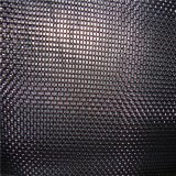 Paño de acoplamiento de alambre del hierro del negro del cuadrado de la armadura llana