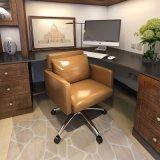 현대 회전대 사무실 PU 가죽 회의 의자