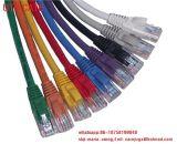 Cavo di lusso della zona del gatto 6A della treccia S/FTP del cotone del cavo di zona del cavo della rete