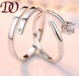 Le rhodium a plaqué le bijou d'argent de mariage d'enclenchement de boucle de l'argent 925 sterling