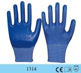 입히는 파란 니트릴을%s 가진 13G 노동 방어적인 산업 작동 장갑
