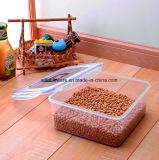 Großes Grad-Silikon-Quadrat-Plastiknahrungsmittelbehälter-Mittagessen-Kästen der Nahrung2200ml