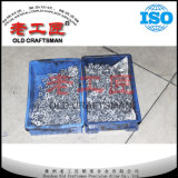 Calço antiderrapante da inserção do CNC da liga dura do tungstênio