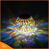 Mosaïque solaire Bille de verre de changement de couleur d'éclairage jardin extérieur Lampes de table solaire pour les Parties Décorations