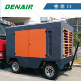 Compresseur d'air diesel portatif de double étape utilisé pour la construction