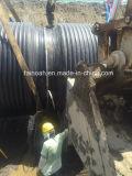 Grandi formati che avvolgono il tubo dell'HDPE della parete della struttura nel grande progetto