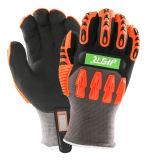 TPR Nitrile Anti-Impact feux chauds gants de travail d'hiver mécanique