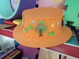 Tampão impresso forma do chapéu da viseira de Sun da espuma de EVA
