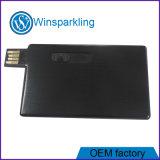 Movimentação do flash do USB da vara da memória do USB do cartão de crédito do presente