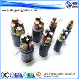 bas câble d'alimentation isolé par PVC de la tension 0.6/1kv