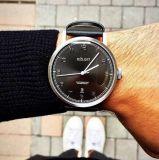 Edelstahl-Uhr der Form kundenspezifischen Firmenzeichen-Männer