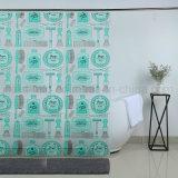 エヴァのカスタム贅沢なデザインのプラスチックシャワー・カーテン