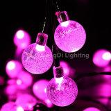 Solar Outdoor Hook Ball String Lights 20FT 30 LED Light String Earth Garland Lamp