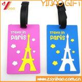 Tag macio colorido da bagagem do PVC com logotipo do costume da impressão