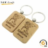 Promotional Custom Shape Blank Wooden Key Ring (Y03919)