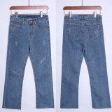 Nieuwe Manier Gebroken Wassende Jeans met Recht Been voor Dame (HDLJ0025-17)