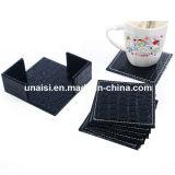 couvre-tapis de la cuvette 6pieces avec le support de caboteur pour le café de thé de vin
