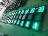 Feu de signalisation piétonnière de DEL avec le rupteur d'allumage de mètre de compte à rebours/compte à rebours