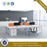 4つのシートL形のオフィス用家具ワークステーション(HX-NJ5102)