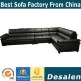 Лучшее качество коричневого цвета в лобби отеля мебель кожаный диван в форме буквы L (A34-1)