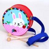 Principessa educativa Design Music Percussion Drum del coniglio del giocattolo del capretto di legno per il bambino