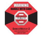 안전 선적 컨테이너를 위한 Shockwatch 레이블 접착성 스티커