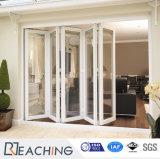 Het binnenlandse Glas die van de Deur Bifold de Deur Aangemaakte Schuifdeur van het Glas voor Woonkamer vouwen