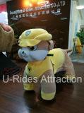 Passeio amarelo da cor no animal para miúdos