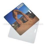 يشخّص طباعة [بفك] حقيبة تعليق بطاقات مع حبل شفّافة