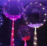 Decoração do partido de feriado do Natal do casamento do diodo emissor de luz Halloween de 12 polegadas que anuncia o balão de ar do diodo emissor de luz