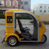 3つの乗客の旅行のための車輪によって禁止状態にされる障害がある三輪車