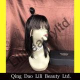 Perruques droites de cheveux humains de lacet de Lilibeauty pleines avec des perruques de mode de coups pour des femmes de couleur