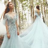 Sequins-Partei-Abschlussball-Kleid-Blau-Tulle-Cocktailkleid Lb16340